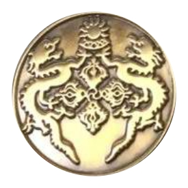Antique Gold Lapel Pin Metal