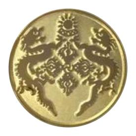 Sandblast Gold Lapel Pin Metal
